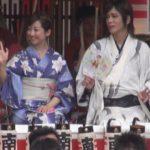 水戸黄門まつりでパレード 京本政樹さん、黒川智花さん参加