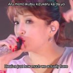 Ayumi Hamasaki 浜崎あゆみ – Step by step english /romaji Lyrics (2015 Tour)