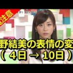 【閲覧注意】牧野結美の表情の変化(4日→10日)