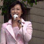 20130616  三原じゅん子さん 池袋東口 お色気たっぷり