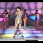 大沢逸美 ボディコン映像 ゴールドボディコンが魅力的  japanese idol