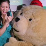筧美和子「お尻触ってる!」テッドがやりたい放題!抱き付きに腰ふりも 映画「テッド2」BD&DVD発売PRイベント1 #Ted 2 #event