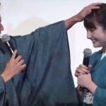 """早見あかり、市原隼人の生""""頭ポンポン""""に大照れ! ドラマ「福家堂本舗-KYOTO LOVE STORY-」完成披露試写会1 #Akari Hayami #Hayato Ichihara"""