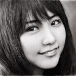 鉛筆画 有村架純 完成までの一部始終 動画 早送り / Pencil drawing/ Kasumi Arimura/ Portrait/ How To Draw